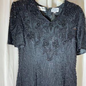 Silky Nites NY Beaded Cocktail Dress, EUC, Vintage